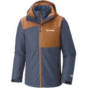 Columbia Aravis Expl**** Interchange Jacket Men Dark Mountain/Bright Copper